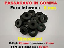 4x Passacavo in gomma anello gommino pvc da incasso foro interno 8mm 4 Pezzi