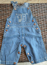 SERGE BLANCO- Magnífico guardapolvos en jeans - TALLA 6 mes - EXCELENTE ESTADO