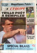 L'Equipe Journal du 11/12/1991; Forza Tomba/ Trillo/ Barcelone défie Benfica