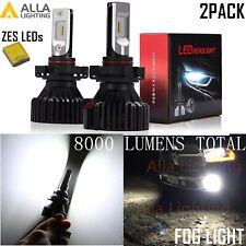 Alla Lighting 8000LM 5202 ZES LED Super Bright Driving Fog Light Bulb Lamp White