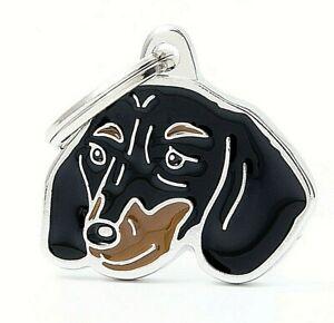 Dachshund Dog ID Tag (19N ) - Engraved FREE - Personalised Identity - Charm