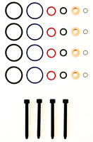 4 x INJECTOR SEAL KIT AND BOLTS FOR BOSCH PD INJECTOR - VW TRANSPORTER 1.9 TDi