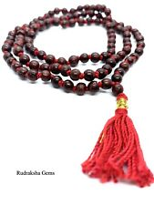 Tulsi Red Tulasi Krishna Japa Mala Rosary 108 Bead Prayer Yoga Hindu Necklace