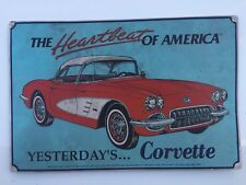 Old and Rare Corvette Fuelie 1958 Advertising Plate- For Collectors