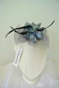 Boxing Hair Clip fascinators Melbourne Cup Spring Races wedding fascinator Grey