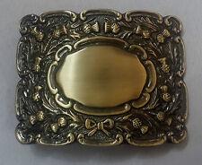Men's Thistle Matt Kilt Belt Buckle Antique Finish/Kilt Belt Buckle Thistle