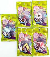 Lot of 5 Polly Pocket Tiny Takeaway Ring Necklace Set Mini Figures Variety of 10