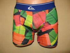 NEW MENS BOYS MULTI COLOURED TRENDY QUIKSILVER FITTED COTTON BOXERS SMALL 28/32