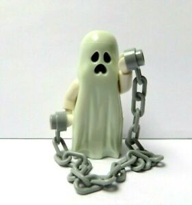 LEGO Monster Fighters Ghost Minifigure & Chain Glow In The Dark  Halloween
