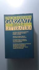 ENCICLOPEDIA GARZANTI DELLA LETTERATURA 2003 CON SOVRACOPERTINA