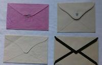 Vier Antike Briefumschläge Luxuspapier um 1900