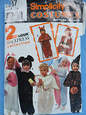 Simplicity Costumes Pattern A 1-4 2 Hour Express Devil Angel Santa Bunny Mouse