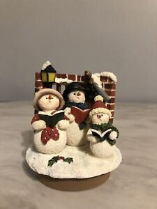 New Home Interiors Snowman Candle Topper Winter Christmas Yankee  Voluspa