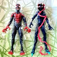 GHOST SPIDER & MILES MORALES Max Venom no venompool BAF Marvel Legends FAST SHIP