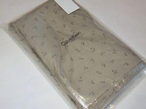 Calvin Klein TEA FLOWER Piccolo Blossom Tan Queen Flat Sheet