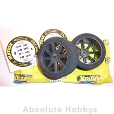 Matrix 1/8 On Road Front Mounted 30 Shore Carbon #5 Wheel (1pr) - MX8A30FC