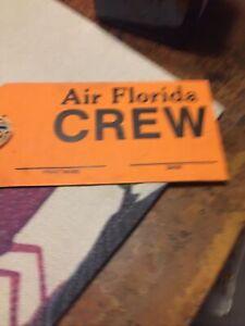 Air Florida Airlines Crew Bag Tag New