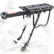 Bicycle Rear Rack Carrier Bike Aluminum 50kg Luggage Trunk Seat Shelf Cycling