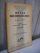REVUE ARCHEOLOGIQUE 1964 avril-juin bronzes de Bavai sanctuaire Fontaines-Salées