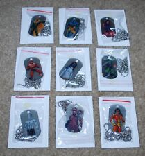 SDCC 2018 MARVEL NECKLACE DOG TAGS LOT OF 9 BRAND NEW