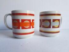 Mid Century Coffee Cups Set of Mug Cups Japan Vintage