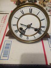 Antique Clock Movement Porcelain Face Crossed Arrows