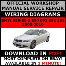 OFFICIAL WORKSHOP Repair MANUAL for BMW SERIES 3 E90 E91 E92 E93 2005-2010