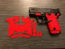 HANDLEITGRIPS Red Sandpaper Gun Grip Parts for Smith & Wesson Shield 9mm