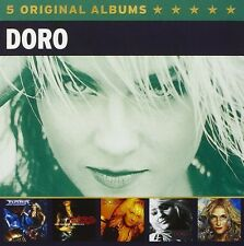"DORO - 5 ORIGINAL ALBUMS 5 CD (BOX-SET) (u.a ""Live it"",""Cool Wolf"") NEU"