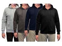 Mens Zip Up Jackets Jumper Hooded Sweatshirt Pullover Big sizes Hoodie M-6XL