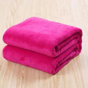 Micro Plush Fleece Blanket Soft Rug Bed Home Decorate Warm Sofa Bedding Throw
