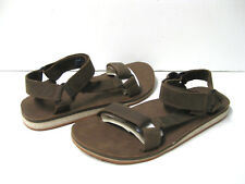 Teva Original Universal Crafted Leather Men Sandal Dark Earth US 9 /UK8 /EU42