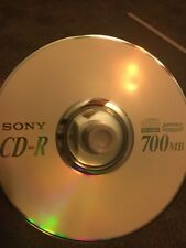 10 QTY Sony BLANK CD-R  Music / Recordable Media Disc 48X 700MB 80 Min