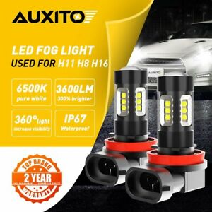 2x AUXITO H11 H8 H16LED Fog Light Bulbs 6500K for Honda Accord Civic Fit Odyssey