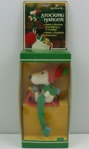 Vintage 1958 Hallmark Snoopy Christmas Stocking Hanger - Holiday Decoration
