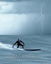 Surfing Motivational Poster Art Used Surfboard Longboard Wet Suit Shorts MVP206