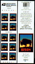 3484 3484A 3484Ag Scarce Bison Booklet with Perf 10.5 RIGHT P#333333 Unfolded NH