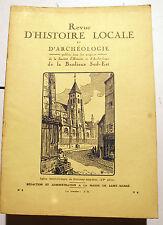 PARIS/BANLIEUE SUD-EST/REVUE D HISTOIRE ET D'ARCHEOLOGIE/MAI-JUIN 1932
