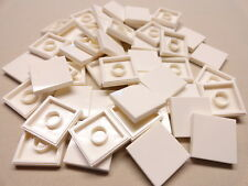x50 NEW Lego Tiles White Smooth Finishing Tile 2x2 2 x 2 MODULAR BUILDINGS