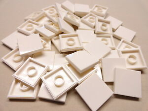 x100 NEW Lego Tiles White Smooth Finishing Tile 2x2 2 x 2 MODULAR BUILDINGS