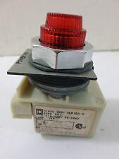 Used Square D 9001 KM1 Ser H 110-120V 50-60Hz Pilot Light W/Power On Plate