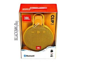 New JBL CLIP 3 Portable Waterproof Bluetooth Speakers Yellow (100% Authentic)