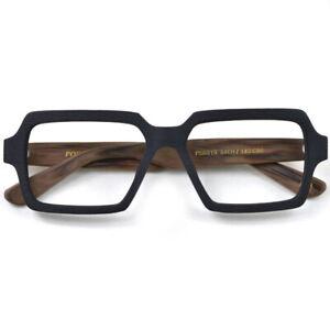 Deluxe Large Square Acetate Glasses Frames Oversize Wood Grain Eyewear Vintage