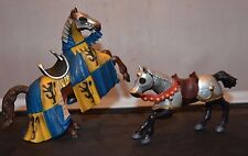 Schleich and Papo Medieval Horses, set of 2