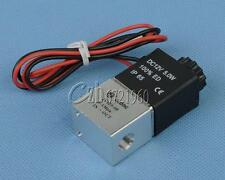 """12V DC 1/8"""" Plastic Electric Solenoid Gas Water Air Valve Normally Closed N/C"""