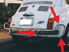 klassisch Fiat 500 hinten rechts Chrom Stoßfänger Verkleidung Bullrider Lusso