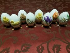 Goebel Lot Of 8 Annual Eggs From 1978 To 1985