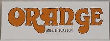 Orange Amplifier Text Sticker, Guitar amp decal, musical instrument, transparent