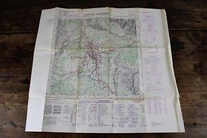 CARTA TOPOGRAFICA Cortina D'Ampezzo CARTINA MAPPA per uso militare Vintage MAPS