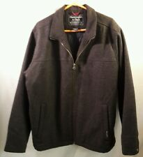 Vintage Abercrombie & Fitch Gray Wool Jacket Men's Quilt Lined Winter Coat (XL)